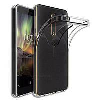 Чехол силиконовый для Nokia 6.1 ультратонкий прозрачный (нокиа 6.1)