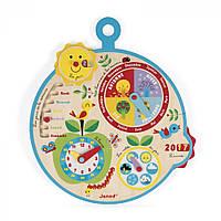 Развивающая игрушка Janod Календарь Времена Года Англиська язык (J09620)