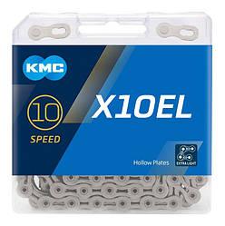 Ланцюг KMC X10EL Silver для 10 швидкісних трансмісій велосипеда
