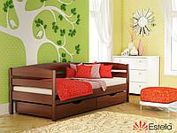 Деревянная детская кровать с бортиками Нота Плюс 80х190, 108, Масив бука Л4