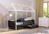 Ліжко у вигляді будиночка Аммі 80х190, 176, з букового Щита Л4