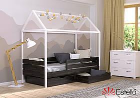 Кровать в виде домика Аммі 80х190, 176, из букового Щита Л4