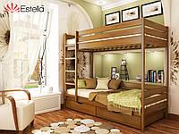 Двоярусне дитяче ліжко Дует 80х190, 103, буковий Щит 2Л4