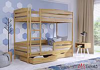 Ліжко для двох дітей Дует Плюс 80х190, буковий Щит 2Л4