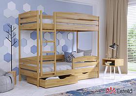Кровать для двух детей Дует Плюс 80х190,  буковый Щит 2Л4