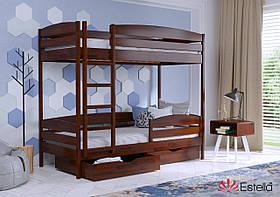 Красивая кровать двухъярусная Дует Плюс 80х190, 108, буковый Щит 2Л4