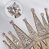 VIP Корона золотого кольору з цирконами (12×8,5 см), фото 4