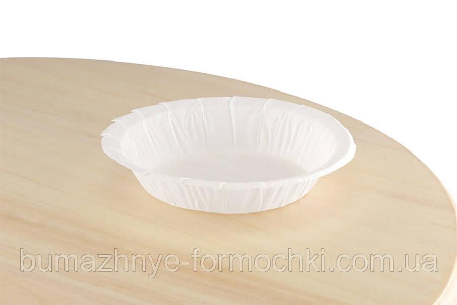 """Паперова форма """"Тарілочка"""" з посиленим бортиком для тарти, пирогів, паїв"""