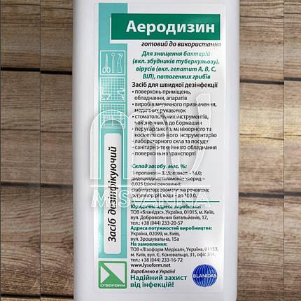 Дезинфицирующее средство для инструментов и поверхностей Аэродизин, 1000 мл, фото 2