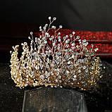 Высокая Корона из камней и кристаллов фианитов (10см), фото 6