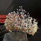 Высокая Корона из камней и кристаллов фианитов (10см), фото 10