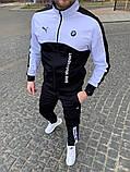 Мужской спортивный костюм Puma  BMW черно-белый, фото 2