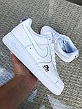 Чоловічі кросівки Nike Air Force 1 білі, фото 3