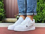 Чоловічі кросівки Nike Air Force 1 білі, фото 4