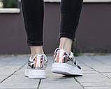 Жіночі кросівки Nike Air Force 1 SP Liquid Metal Silver, фото 3