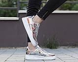 Жіночі кросівки Nike Air Force 1 SP Liquid Metal Silver, фото 4