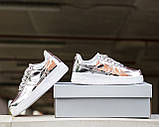 Жіночі кросівки Nike Air Force 1 SP Liquid Metal Silver, фото 5