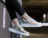 Жіночі кросівки Nike Air Force 1 SP Liquid Metal Silver, фото 6