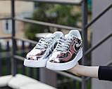 Жіночі кросівки Nike Air Force 1 SP Liquid Metal Silver, фото 7