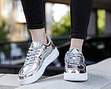 Жіночі кросівки Nike Air Force 1 SP Liquid Metal Silver, фото 8