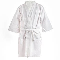 Вафельный халат Luxyart Кимоно XL Белый LS-041, КОД: 1103590