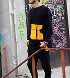 Чоловічий спортивний костюм Світшот Стропи + штани (оранж), фото 2