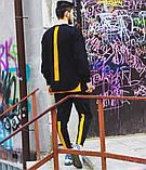 Чоловічий спортивний костюм Світшот Стропи + штани (оранж), фото 3