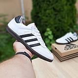 Мужские кроссовки Adidas Samba Белые с чёрным, фото 2