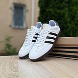 Мужские кроссовки Adidas Samba Белые с чёрным, фото 8