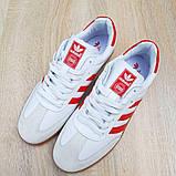 Мужские кроссовки Adidas Samba Белые с красным, фото 8