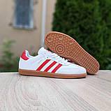 Мужские кроссовки Adidas Samba Белые с красным, фото 9