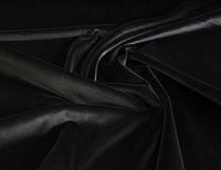 Бархат итальянский хлопковый натуральный черного цвета однотонный MI 26
