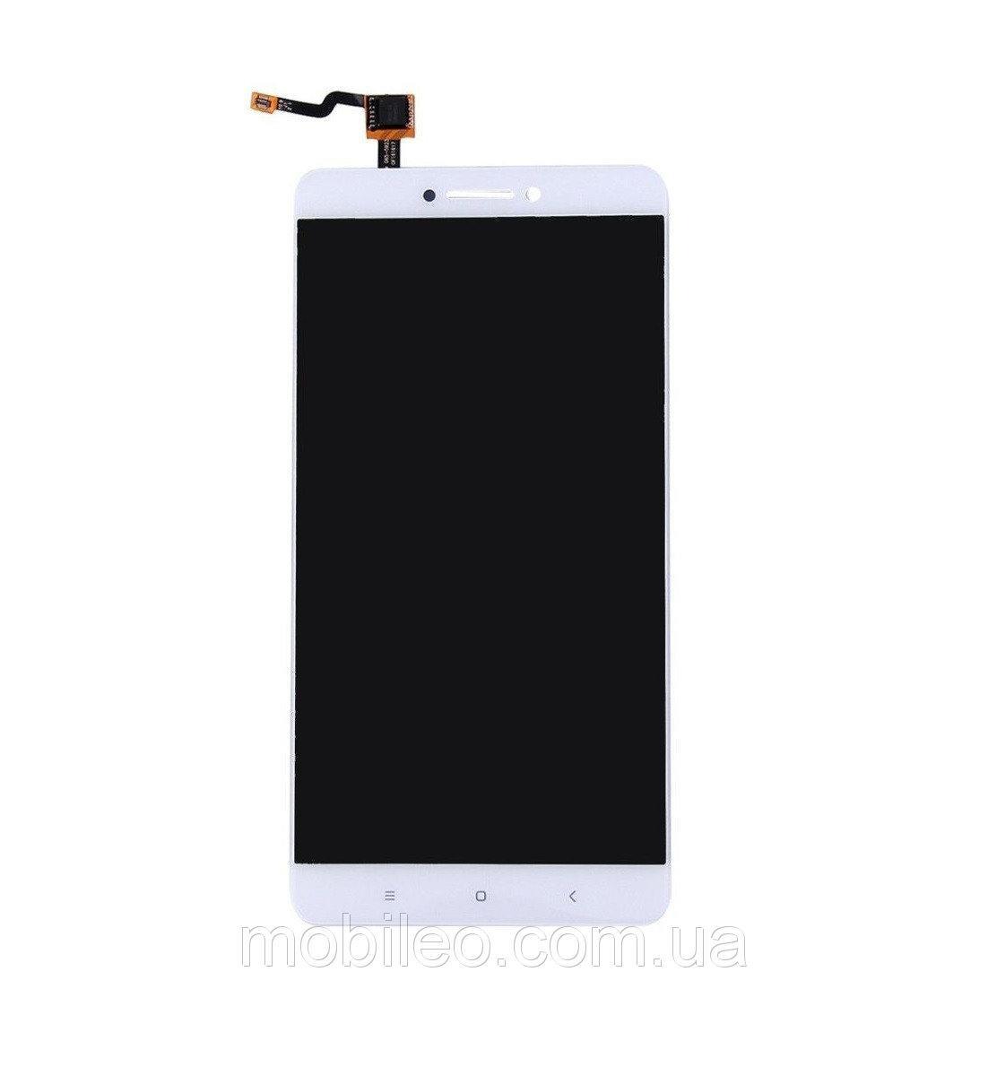 Дисплей (LCD) Xiaomi Mi Max | Mi Max Pro | Mi Max Prime з тачскріном і рамкою, білий
