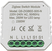 Умный выключатель Tervix Pro Line ZigBee Switch (1 клавіша / розетка)