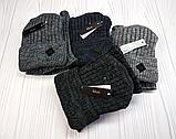 М 94022.Зима. Комплект  мужской, подростковый  шапка  с кнопкой на флисе и снуд, разние цвета, фото 8