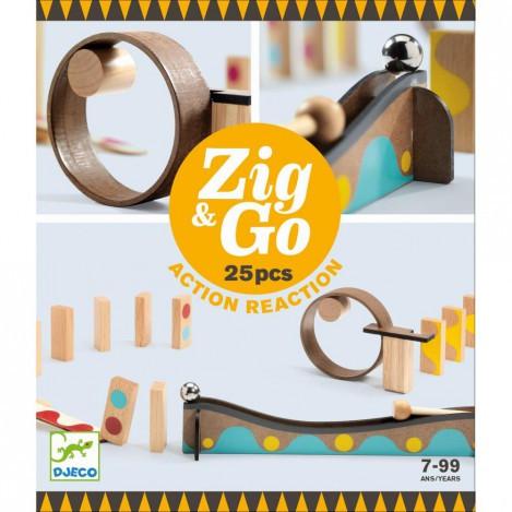 Конструктор деревянный zig & go - 25 деталей (DJ05642)