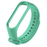 Силиконовый бирюзовый ремешок  на фитнес трекер Xiaomi mi band 4 / 3 браслет аксессуар замена