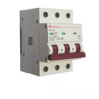 ElectroHouse Автоматичний вимикач 3P 63A 4,5 kA 230-400V IP20