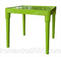 Стол пластик детский квадратный оливкового цвета, фото 1