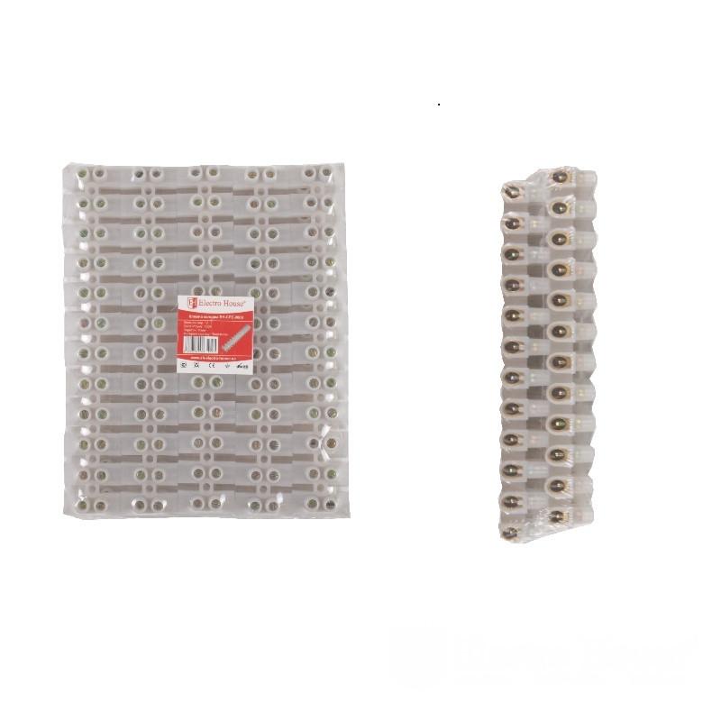 ElectroHouse Клеммная колодка 100A 40mm² ПЭ винтовой зажим
