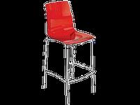 Барный стул Papatya X-Treme BSL прозрачно-красный