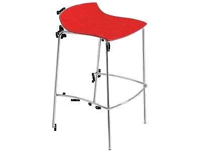 Барный стул Papatya X-Treme BSS красный