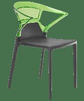 Кресло Papatya Ego-K антрацит сиденье, верх прозрачно-зеленый, фото 1