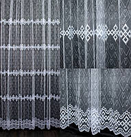 Гардина фатин с вышивкой.Цвет белый.  Код 541ту (1,9*2,7м), фото 1