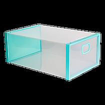 Коробка для взуття бірюзова