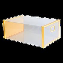 Коробка для взуття жовтий