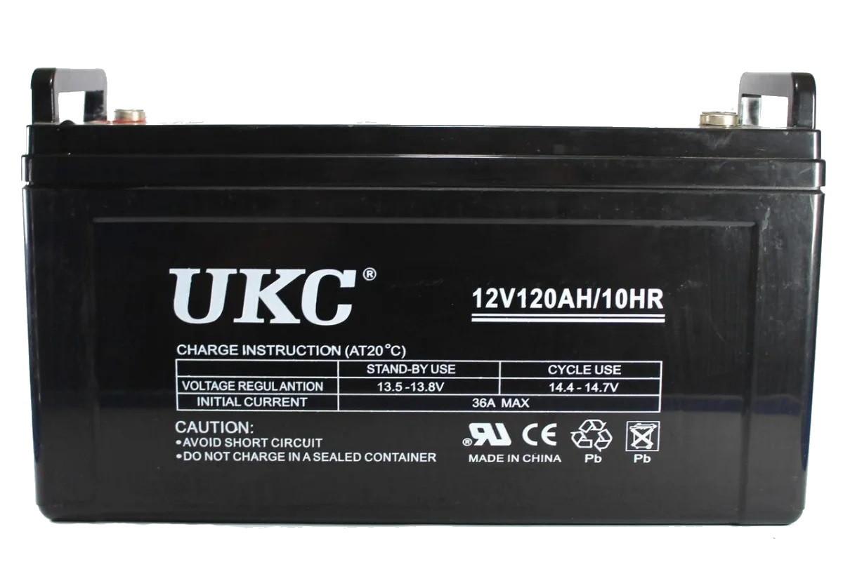 Универсальный гелевый аккумулятор GEL UKC 6-CNF-120 12V 120Ah (Аккумуляторная батарея 12В 120Ач)