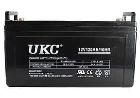 Универсальный гелевый аккумулятор GEL UKC 6-CNF-120 12V 120Ah (Аккумуляторная батарея 12В 120Ач), фото 2