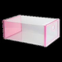 Коробка для взуття рожева