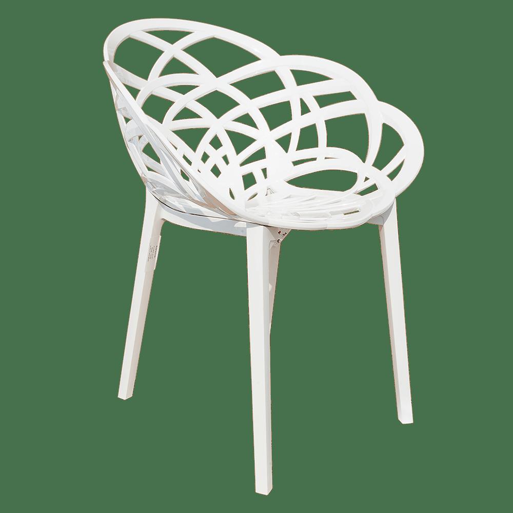 Кресло Papatya Flora белое сиденье, низ белый